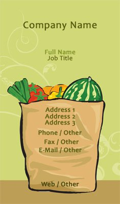 Produce Illustration Business Card Template